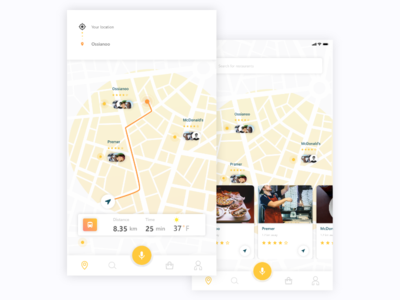 nearby restaurants nearby direction ux ui restaurant mobil ui  ux map icon maps app