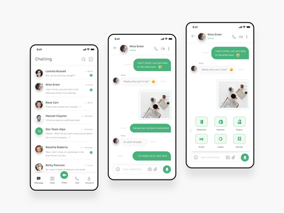 Chat App debuts debut simple image location camera video call video attach profile mobile ios app ui messages chatting chat