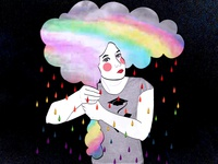 Rainbow Woman - Sofia Bonati Model - Justine Montreuil