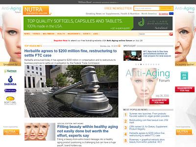 Background Banner Anti-Aging forum - Justine Montreuil aging website design background design