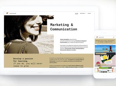 New Website justine-montreuil.com jimdo cms responsive website portfolio site website design website