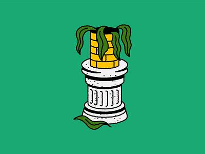 Dead Plant leaf logo design icon succulent cactus plant doodle tattoo design