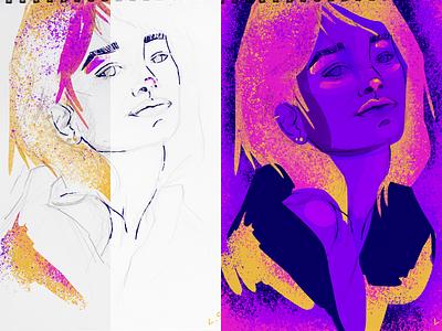 Fairy Woman digital illustration illustration photoshop art digital art colorist fairy sketchbook digital painting sketch