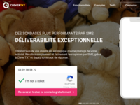 Saas Interface Design / CleverTXT / Site Vitrine