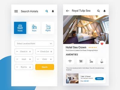 Ghurbo Apps ui travel ticket ios search booking flight box air