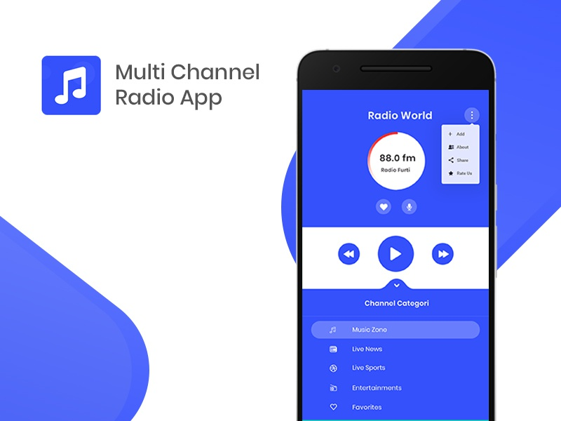 Multi Cahnnel Radio by MCC on Dribbble