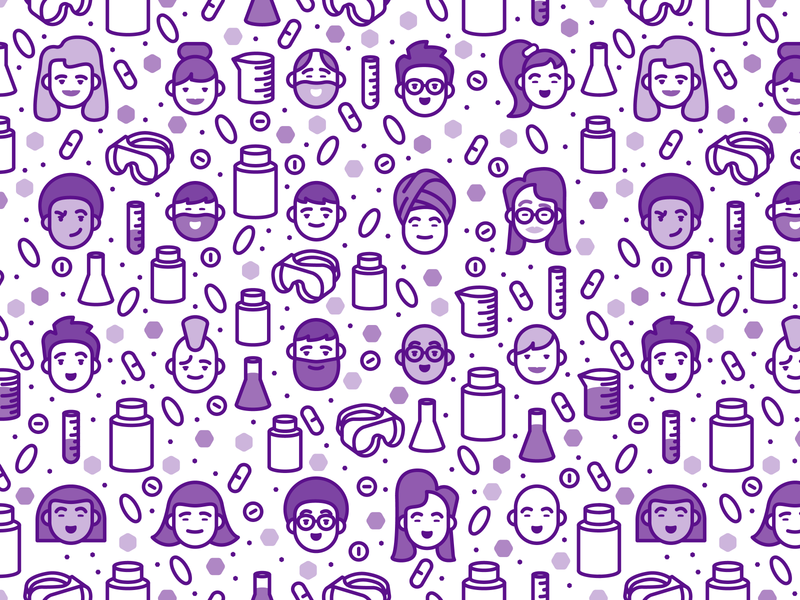 AOR Face Pattern safety goggles beakers test tube biology biological science chemistry science vitamins bottles pills icons faces seamlesspattern pattern