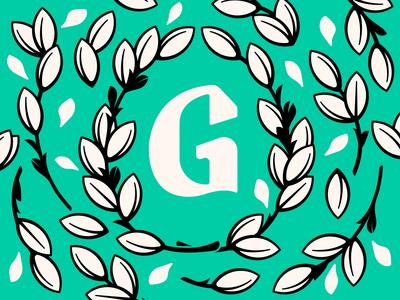 Floral G Monogram