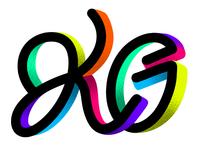 KG doodle illustration lettering procreate