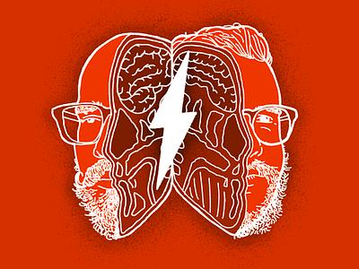 Fireside Podcast 004 Cover fireside podcast lightning procreate faces portrait podcast