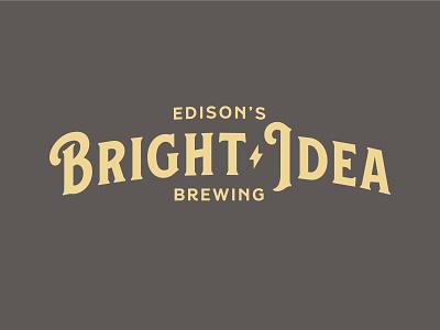 Bright Idea Logo 2 lightning bolts lightning bolt bright thomas edison edison brewing co brewery branding logo