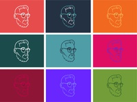 Self Portrait Colorways self portrait vector illustration