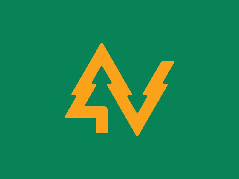Tree V tree logo brand identity icon branding logo
