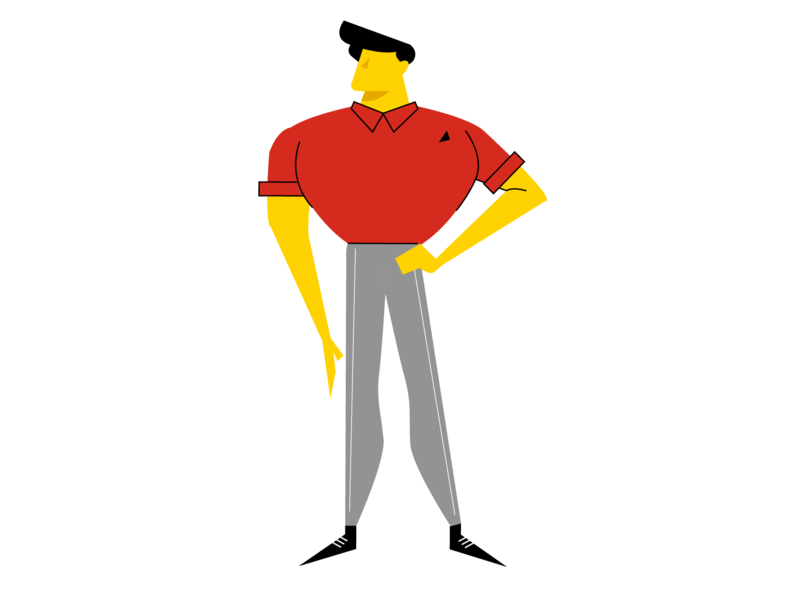 Polo guy cartoon character design exploration research user client 2d character vector art illustration layout motion design character design polo