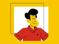 Cartoon polo guy