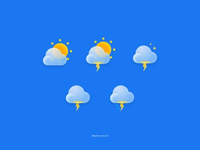 Weather Icons 1.0 Community Version uiux 3d 3dicons webdesign branding figmadesign figma icon icons ux ui design