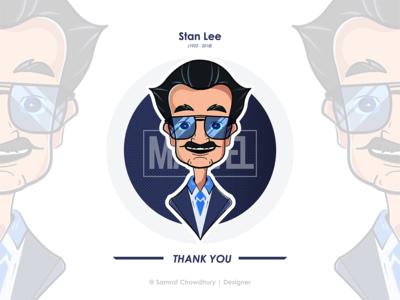 Stan Lee Illustration (1922-2018) (R.I.P)