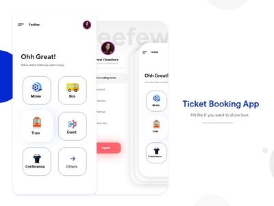 Ticket Booking App UI Design