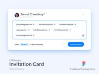 Invitation Card UI Material