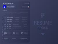 Personal Resume - Soft UI