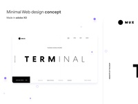 Minimal website design concept