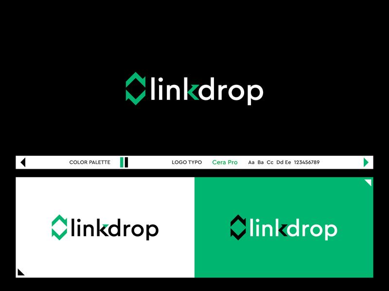 Linkdrop link webdesign website design onepage sites logos flatlogo logodesign icon ui website web logo company logos brand identity brandidentity minimal logo identity business logo logo design