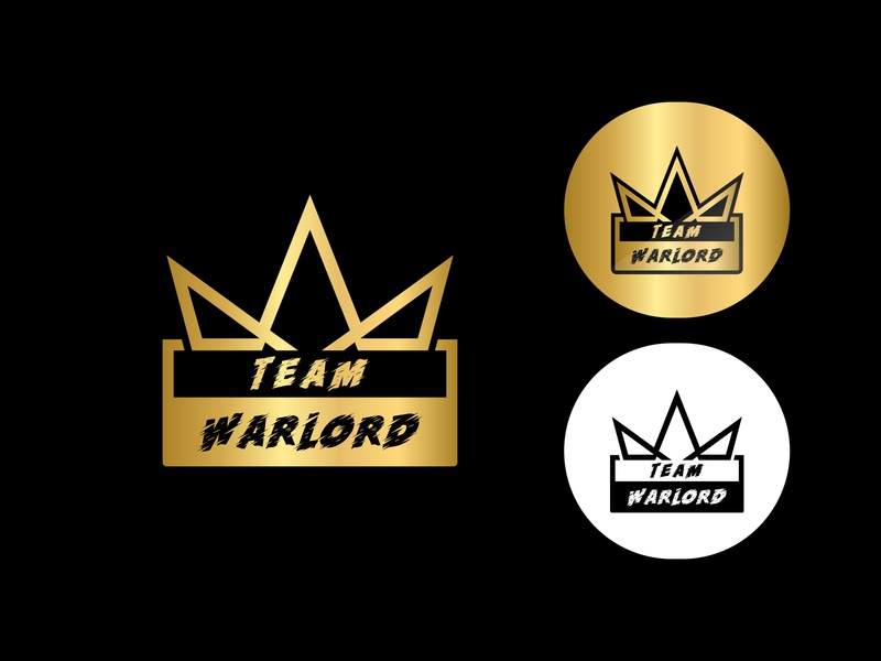 TEAM WARLORD gaming and esports logo gaming mascot logo gamers logo luxury logo golden color logo minimal logo brandidentity esports logo design gaming flat logo design gaming logo