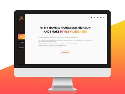 White Rabbit Design - 2016 restyle clean orange yellow redesign portfolio