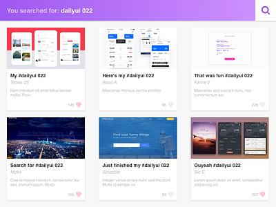 DailyUI #022 - Search gradient purple light search 022 dailyui