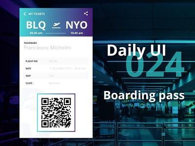 DailyUI #024 - Boarding Pass gradient blue purple flight pass boarding 024 dailyui