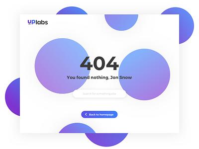 404 Page clean purple white 404