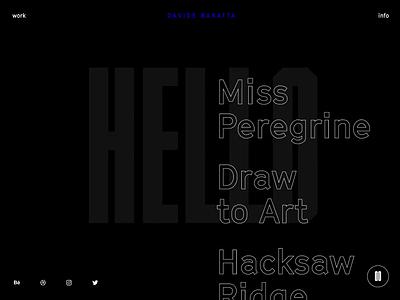 Davide Baratta 2019 Portfolio (sneak peek) creative code creative  design dark background stroke clip portfolio