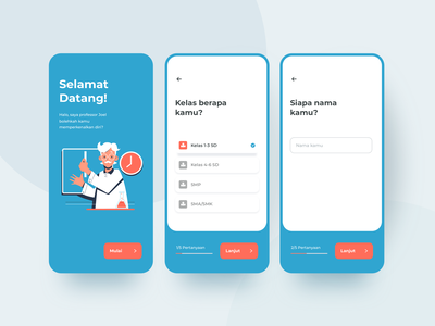 School Course App student education school form signup registration vector app screen apps mobile gif clean animated illustration animation ux interaction design ui