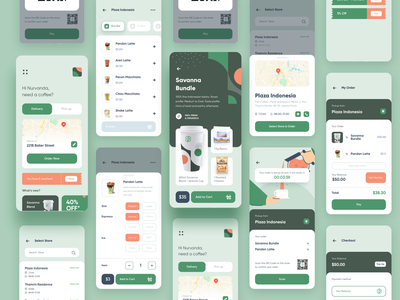 Fore App Reimagined - Interaction Design online drink illustration gif protopie5.0 mobile screen illsutration vector protopie prototype animation interaction clean coffee app fore ux design ui