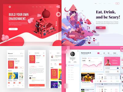 2018!! web hero header illustration design ui 2018