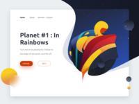 Exploration : Planet In Rainbows