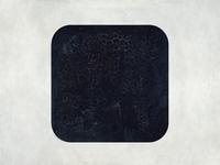 iOS7 Icon. Malevich Black Square