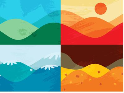 Four Seasons Vivaldi Minimalistic Poster minimal art minimal vector ui illustration flat design
