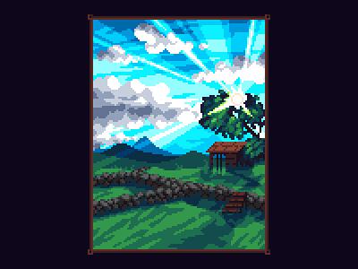 Landscape mountains landscape pixelart pixel