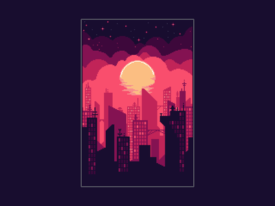 Cityscape cityscape pixelart pixel
