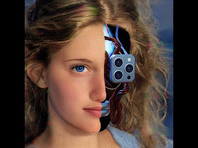 iHuman blender3d photoshop portrait 3d render 3d modeling ai iphone 3d abstract