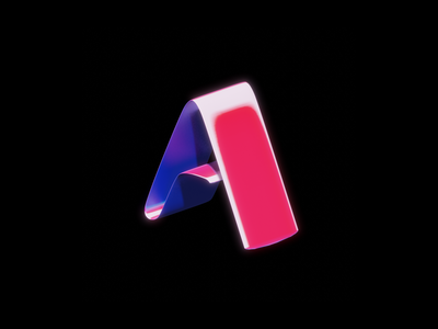 "Minimalistic ""A"" Logo branding a design logo illustration 3d render 3d art"
