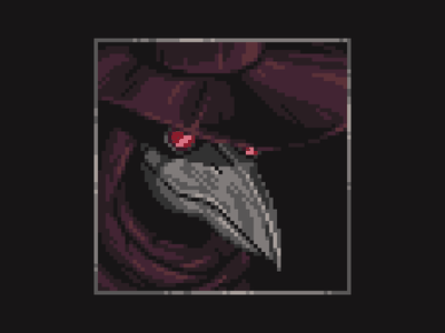 The Doctor plague pandemic dark bird doctor plague doctor shadow illustration logo pixelart pixel