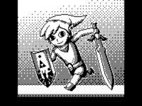 1-Bit Toon Link