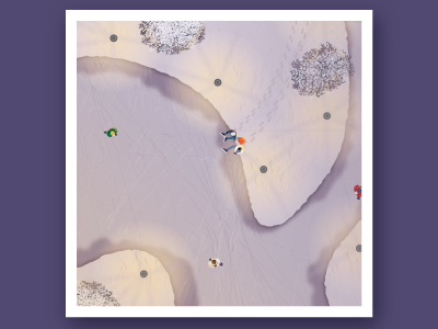 Winter landscape from above ice skating ice winter snow landscape illustration