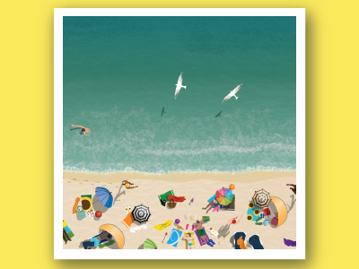 Summer landscape - Beach day! fun aerial dutch swimming relaxing sand sea sun hot beach landscape summer