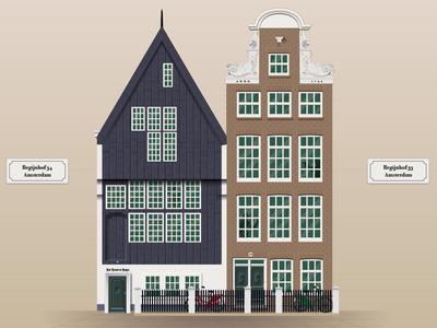 Begijnhof 34 - Oldest house in Amsterdam (1420) architecture oldest monuments nederland amsterdam dutch netherlands facade monument building