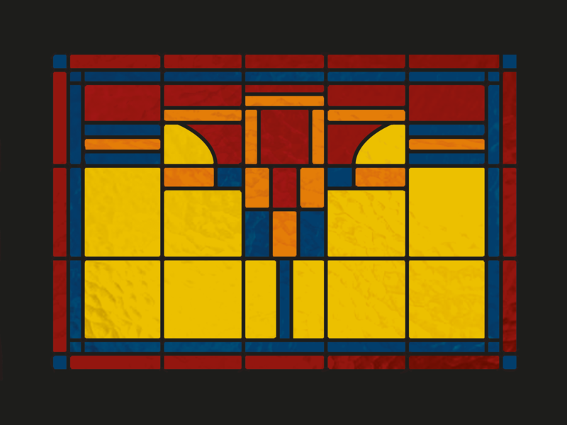 Stained glass  |  2 dutch color block window stained glass stained glass