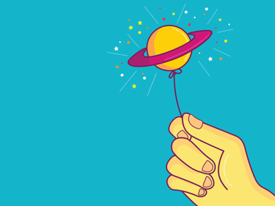 Saturn Lollipop Balloon
