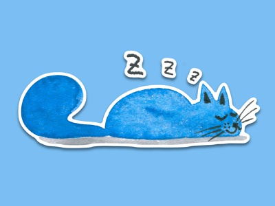 Blue Cat #7 telegram sticker telegram sticker design watercolor art watercolour sticker pack watercolor sticker cat animal illustration cartoon illustration cartoon character cartoon cute illustration cuteart